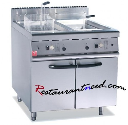 Electric 2-Tank Fryer (2-Basket) With Cabinet K006